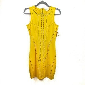 NWT Nicky Minaj Yellow Gold Studs Dress Size M